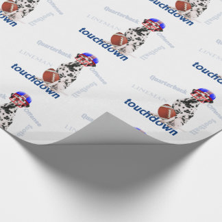Touchdown Football with Dalmatian Dog in Helmet Wrapping Paper