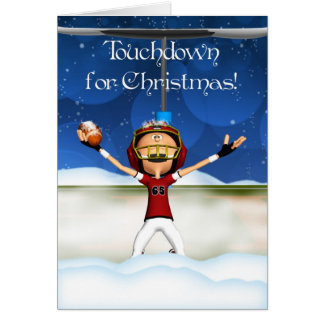Touchdown For Christmas - American Football Card