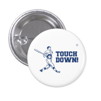 Touchdown Homerun Baseball Football Sports 3 Cm Round Badge