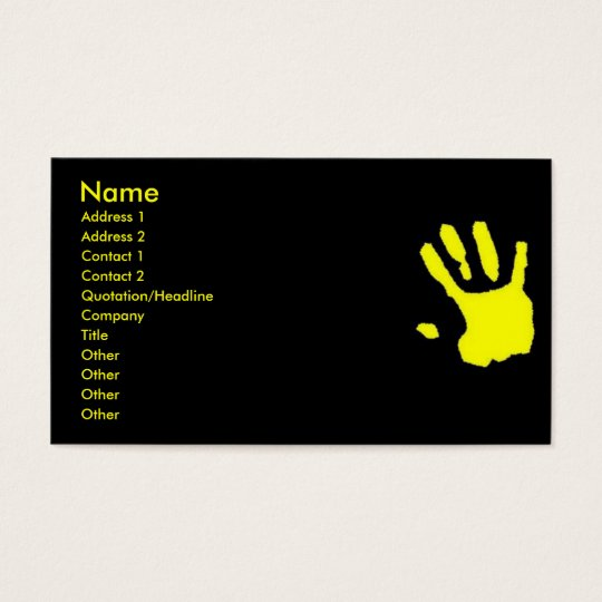 Touched Business Card