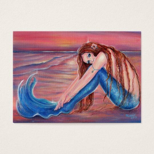 Touched by the Sun Mermaid business cards By