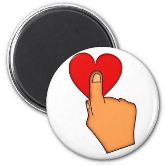 Touching the affect the heart heart fridge magnet