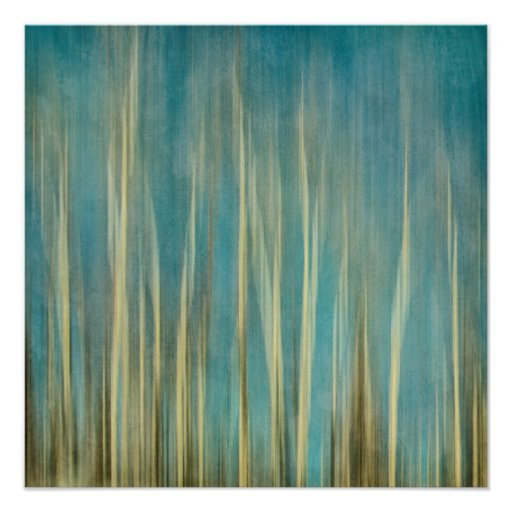 touching the sky aspen tree forest abstraction poster