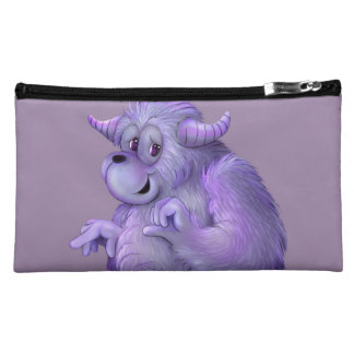 TOUFFIN ALIEN MONSTER Sueded Medium Cosmetic Bag