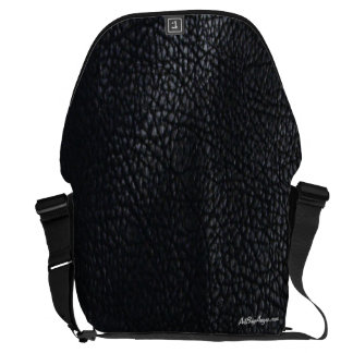 """Tough as Leather™ "" (Black/Black w/Black Trim) Messenger Bag"