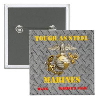TOUGH AS STEEL USMC 15 CM SQUARE BADGE