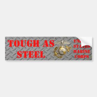 TOUGH AS STEEL USMC BUMPER STICKER