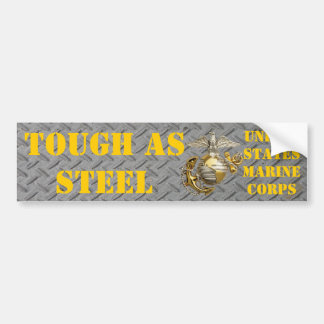 TOUGH AS STEEL USMC BUMPER STICKER