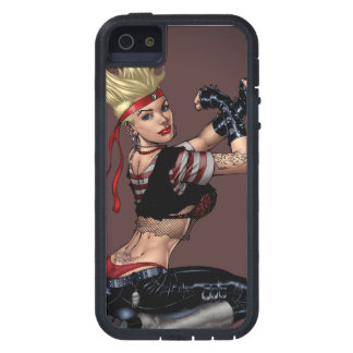 Tough Blond Punk Girl - Ready To Fight by Al Rio iPhone 5 Covers