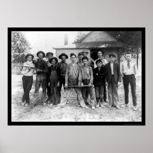 Tough Boy Baseball Team 1908 Poster
