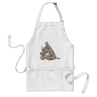 Tough Cartoon Rhino Standard Apron