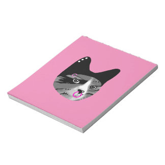 Tough Cat with Piercings Notepad