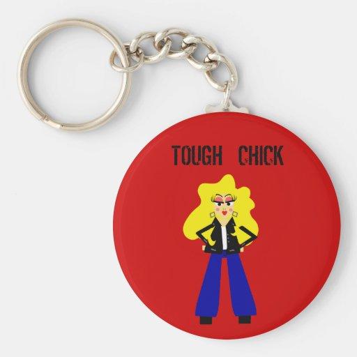 Tough Chick Keychain