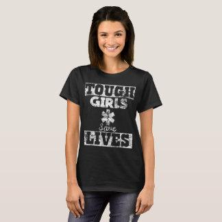 Tough Girls Save Lives EMT Paramedic Distressed T-Shirt