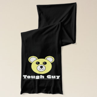 Tough Guy Bear Face Funky Soft Jersey Scarf