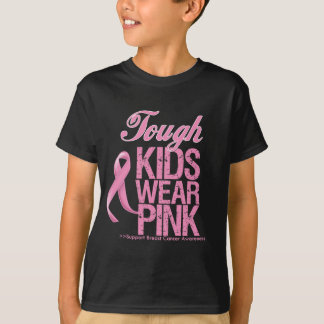 Tough Kids Wear Pink Cool Breast Cancer T-Shirt