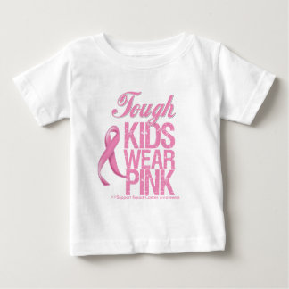 Tough Kids Wear Pink Cool Breast Cancer Tshirts