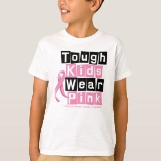 Tough Kids Wear Pink For Breast Cancer Awareness T-Shirt
