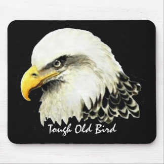 Tough Old Bird Fun Quote Bald Eagle Painting Mouse Mat