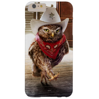 Tough Western Sheriff Owl with Attitude & Swagger Barely There iPhone 6 Plus Case