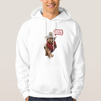 Tough Western Sheriff Owl with Attitude & Swagger Hoodie