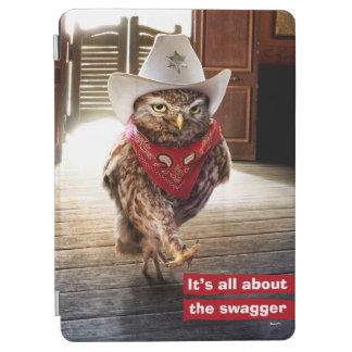Tough Western Sheriff Owl with Attitude & Swagger iPad Air Cover