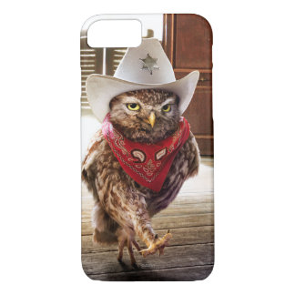 Tough Western Sheriff Owl with Attitude & Swagger iPhone 7 Case