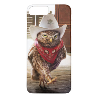 Tough Western Sheriff Owl with Attitude & Swagger iPhone 7 Plus Case