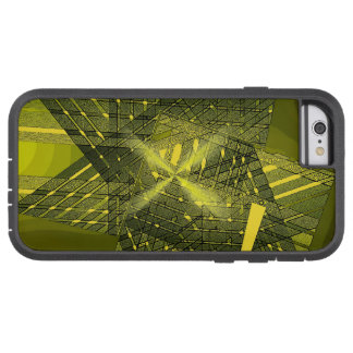 Tough Xtreme iPhone 6 cover in Dark Yellow Art iPhone 6 Case