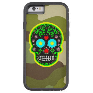 Tough Xtreme Phone Case camouflage mexican skull