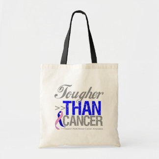 Tougher Than Cancer - Male Breast Cancer Canvas Bag