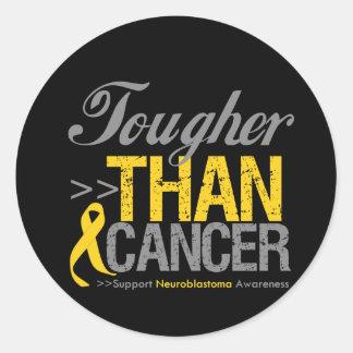 Tougher Than Cancer - Neuroblastoma Round Sticker