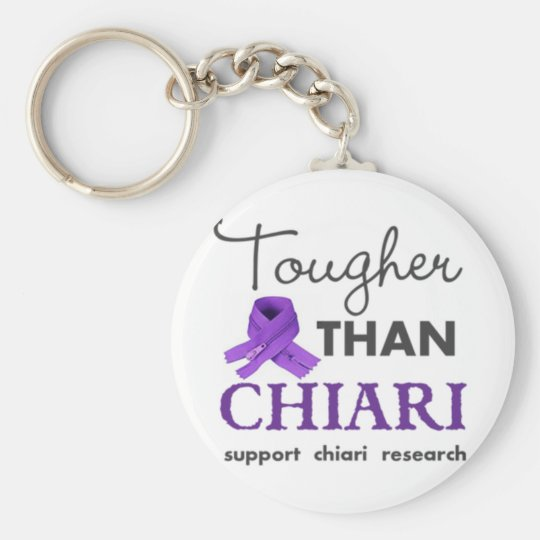 Tougher than Chiari Basic Round Button Key Ring