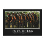 Toughness: Inspirational Quote 2 Canvas Print