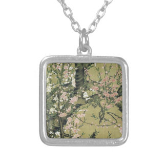 Touka shoukinzu by Ito Jakuchu Square Pendant Necklace
