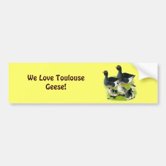 Toulouse Goose Family Bumper Sticker