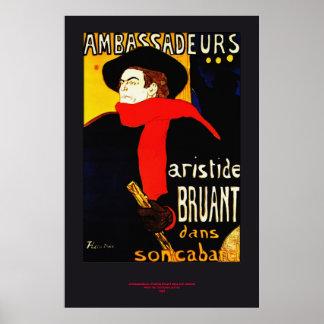 Toulouse Lautrec AMBASSADEURS Redux Poster