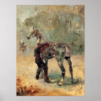 Toulouse-Lautrec - Artilleryman and his horse Poster