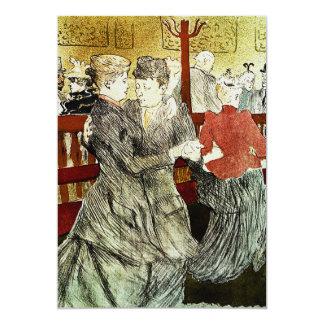 Toulouse-Lautrec - Dancing at Rouge 13 Cm X 18 Cm Invitation Card