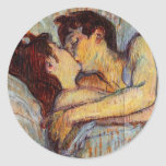 Toulouse-Lautrec In Bed The Kiss Stickers