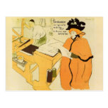 Toulouse-Lautrec - Jane Avril checking a print sam Postcard