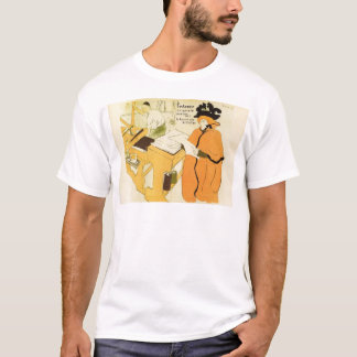 Toulouse-Lautrec - Jane Avril checking a print sam T-Shirt