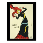 Toulouse-Lautrec Jane Avril Postcard