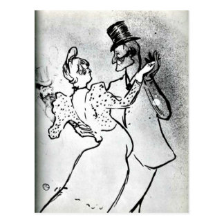 Toulouse-Lautrec: La Goulue and Valentin, Waltz Postcard