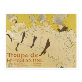 Toulouse Lautrec- La Troupe de Mlle Eglantine 1895 Postcard