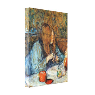 Toulouse-Lautrec - Madam Poupoule on the Toilet Gallery Wrapped Canvas