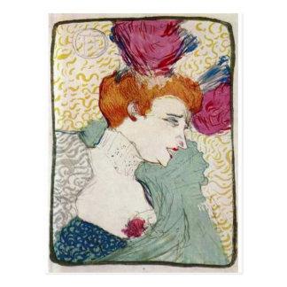 Toulouse-Lautrec Mademoiselle Marcelle vintage art Postcard