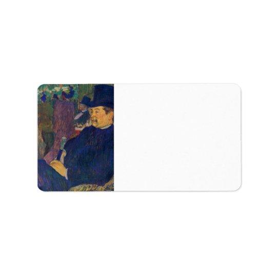 Toulouse-Lautrec - Mister Delaporte in the garden Label