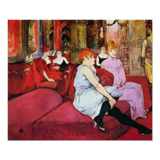 Toulouse-Lautrec - Salon in the Rue de Moulins Poster