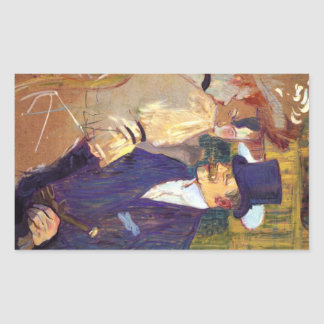 Toulouse-Lautrec - The english man at the R Stickers